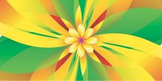 Γεωμετρική κίτρινη σύσταση λουλουδιών Στοκ Εικόνες