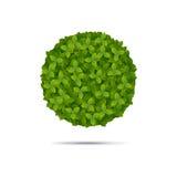 Γεωμετρική μορφή κύκλων που καλύπτεται στα φύλλα Απεικόνιση αποθεμάτων