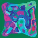 Γεωμετρική μορφή με το αφηρημένο ζωηρόχρωμο κυματιστό πρότυπο καρτών υποβάθρου Στοκ Εικόνες