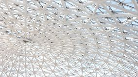 Γεωμετρική στέγη γυαλιού στην ηλιόλουστη ημέρα φιλμ μικρού μήκους