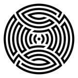 Γεωμετρική στρογγυλή διακόσμηση Στοκ φωτογραφίες με δικαίωμα ελεύθερης χρήσης