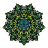 Γεωμετρική στρογγυλή διακόσμηση Mandala, φυλετικό εθνικό αραβικό ινδικό μοτίβο Στοκ εικόνα με δικαίωμα ελεύθερης χρήσης