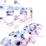 Γεωμετρική τεχνολογική απεικονισμένη hexagon προοπτική αφηρημένο β διανυσματική απεικόνιση