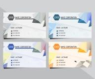 Γεωμετρική τριγωνική επαγγελματική κάρτα Στοκ Εικόνες