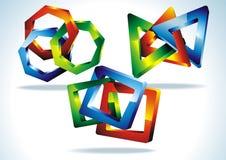 Γεωμετρική τρισδιάστατη μορφή Στοκ Εικόνες