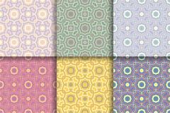 γεωμετρικός άνευ ραφής α&nu Χρωματισμένα καθορισμένα αφηρημένα σχέδια Στοκ φωτογραφία με δικαίωμα ελεύθερης χρήσης
