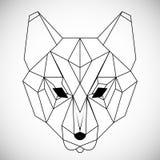 Γεωμετρικός διανυσματικός επικεφαλής λύκος που σύρεται στη γραμμή ή το ύφος τριγώνων, κατάλληλη για τα σύγχρονα polygonal πρότυπα ελεύθερη απεικόνιση δικαιώματος