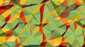 Γεωμετρικός ζωηρόχρωμος τηλεοπτικός βρόχος υποβάθρου του //4k 60fps Yannic απεικόνιση αποθεμάτων
