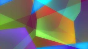 Γεωμετρικός ζωηρόχρωμος τηλεοπτικός βρόχος υποβάθρου του //1080p Dariel ελεύθερη απεικόνιση δικαιώματος