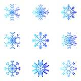 γεωμετρικός πάγος κρυστάλλου που μοιάζει με snowflakes μορφών το διάνυσμα Χριστούγεννα και νέο σχέδιο έτους Στοκ εικόνα με δικαίωμα ελεύθερης χρήσης