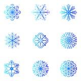 γεωμετρικός πάγος κρυστάλλου που μοιάζει με snowflakes μορφών το διάνυσμα Χριστούγεννα και νέο σχέδιο έτους Στοκ Φωτογραφίες