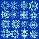 γεωμετρικός πάγος κρυστάλλου που μοιάζει με snowflakes μορφών το διάνυσμα Στοκ Εικόνες