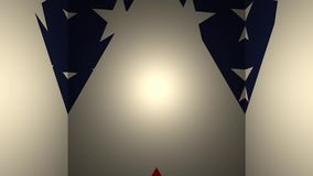 Γεωμετρικός τρισδιάστατος βρόχος σκηνικού με την αμερικανική σημαία ελεύθερη απεικόνιση δικαιώματος