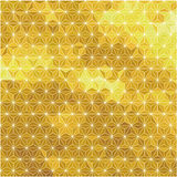 γεωμετρικός χρυσός ανασκόπησης Στοκ Εικόνα