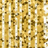 γεωμετρικός χρυσός ανασκόπησης Στοκ Φωτογραφία