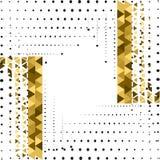 γεωμετρικός χρυσός ανασκόπησης Στοκ φωτογραφία με δικαίωμα ελεύθερης χρήσης