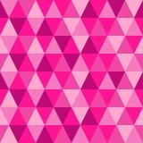 Γεωμετρικό άνευ ραφής αφηρημένο υπόβαθρο με τις μορφές τριγώνων ως σχέδιο μωσαϊκών στο καθιερώνον τη μόδα πλαστικό ροζ χρώματος τ απεικόνιση αποθεμάτων