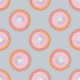 Γεωμετρικό άνευ ραφής διανυσματικό σχέδιο ύφους κύκλων διακοσμητικό στοκ φωτογραφία με δικαίωμα ελεύθερης χρήσης