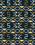 Γεωμετρικό άνευ ραφής σχέδιο στο αφρικανικό ύφος Στοκ φωτογραφία με δικαίωμα ελεύθερης χρήσης