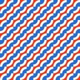 Γεωμετρικό άνευ ραφής σχέδιο με τα διαγώνια κύματα Στοκ Εικόνα