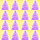 Γεωμετρικό άνευ ραφής σχέδιο τριγώνων Doodle Στοκ Φωτογραφία