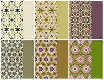 Γεωμετρικό άνευ ραφής σύνολο σχεδίων και χρώματος Στοκ Εικόνες