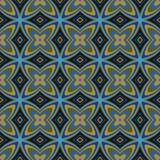 Γεωμετρικό αναδρομικό άνευ ραφής πρότυπο ταπετσαριών Στοκ Φωτογραφία