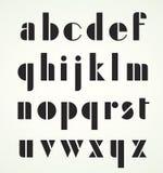 Γεωμετρικό αναδρομικό αλφάβητο του Art Deco Στοκ Εικόνες
