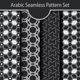 Γεωμετρικό αραβικό άνευ ραφής σύνολο σχεδίων Στοκ Εικόνες