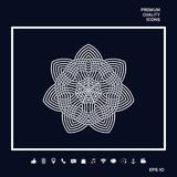 Γεωμετρικό αραβικό σχέδιο ΛΟΓΟΤΥΠΟ στοιχείο σχεδίου σας Στοκ Εικόνα