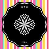 Γεωμετρικό αραβικό σχέδιο Λογότυπο για το σχέδιό σας Στοκ φωτογραφία με δικαίωμα ελεύθερης χρήσης