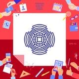 Γεωμετρικό αραβικό σχέδιο Στοιχείο λογότυπων για το σχέδιό σας Στοκ φωτογραφία με δικαίωμα ελεύθερης χρήσης