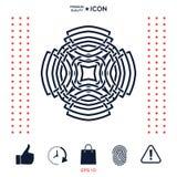 Γεωμετρικό αραβικό σχέδιο Στοιχείο λογότυπων για το σχέδιό σας Στοκ Εικόνες