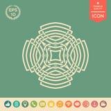 Γεωμετρικό αραβικό σχέδιο Στοιχείο λογότυπων για το σχέδιό σας Στοκ Φωτογραφία