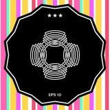 Γεωμετρικό ασιατικό αραβικό σχέδιο ΛΟΓΟΤΥΠΟ στοιχείο σχεδίου σας Στοκ εικόνα με δικαίωμα ελεύθερης χρήσης