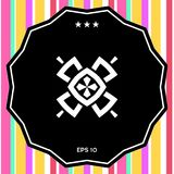 Γεωμετρικό ασιατικό σχέδιο ΛΟΓΟΤΥΠΟ στοιχείο σχεδίου σας Στοκ εικόνα με δικαίωμα ελεύθερης χρήσης