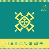 Γεωμετρικό ασιατικό σχέδιο ΛΟΓΟΤΥΠΟ στοιχείο σχεδίου σας Στοκ εικόνες με δικαίωμα ελεύθερης χρήσης