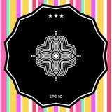 Γεωμετρικό ασιατικό σχέδιο Λογότυπο για το σχέδιό σας Στοκ Φωτογραφία