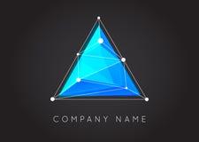 Γεωμετρικό ασυνήθιστο και αφηρημένο διανυσματικό λογότυπο μορφών Polygonal κοβάλτιο ελεύθερη απεικόνιση δικαιώματος