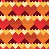 Γεωμετρικό αφηρημένο άνευ ραφής σχέδιο καρδιών διανυσματική απεικόνιση