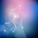 Γεωμετρικό αφηρημένο άσπρο πολύγωνο, fractal διανυσματική απεικόνιση