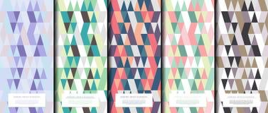 Γεωμετρικό αφηρημένο σχεδίων διάνυσμα υποβάθρου συλλογής διάφορο τριγωνικό στοκ φωτογραφίες
