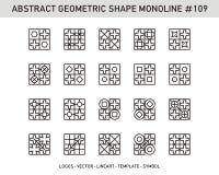 Γεωμετρικό αφηρημένο σύνολο Στοκ φωτογραφία με δικαίωμα ελεύθερης χρήσης