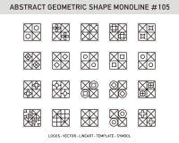 Γεωμετρικό αφηρημένο σύνολο Στοκ Εικόνες