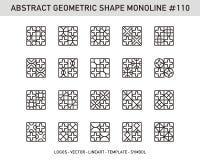 Γεωμετρικό αφηρημένο σύνολο Στοκ Φωτογραφίες