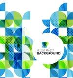 Γεωμετρικό αφηρημένο υπόβαθρο κύκλων Στοκ εικόνες με δικαίωμα ελεύθερης χρήσης