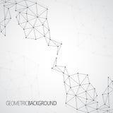 Γεωμετρικό γκρίζο μόριο υποβάθρου και διανυσματική απεικόνιση