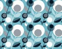 Γεωμετρικό γραπτό εκλεκτής ποιότητας αναδρομικό floral σχέδιο Στοκ Φωτογραφία