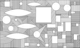 Γεωμετρικό γραφικό αφηρημένο υπόβαθρο Ο διανυσματικός Μαύρος απεικόνισης Διανυσματική απεικόνιση
