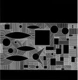 Γεωμετρικό γραφικό αφηρημένο υπόβαθρο Ο διανυσματικός Μαύρος απεικόνισης Απεικόνιση αποθεμάτων